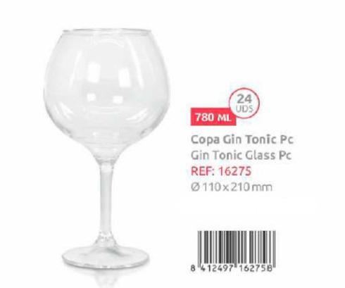 LaGamba: COPA DE GIN TONIC PC 780 ML.