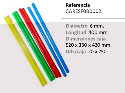 LaGamba: CA�A RECTA COLORES 400MM