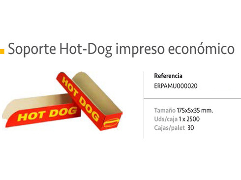 LaGamba: SOPRTE HOT-DOG ECO.IMPRESO