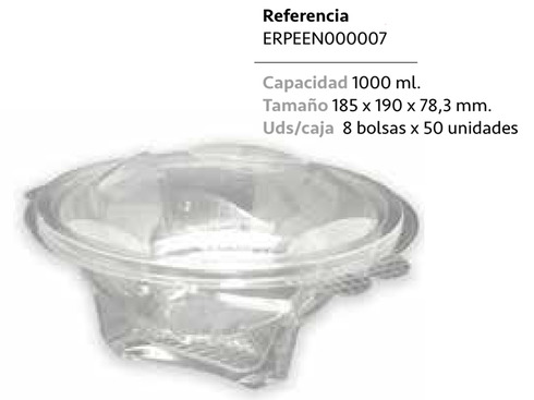 LaGamba: ENSALADERA PET BOWL 1000ML