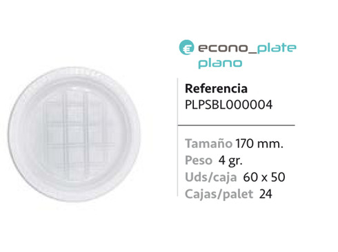 LaGamba: PLATO PS BLANCO 170mm
