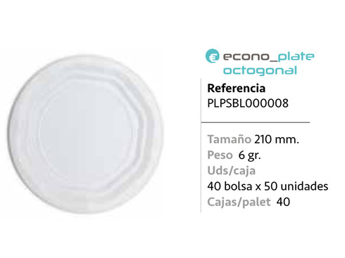 LaGamba: PLATO PS BLANCO 210MM