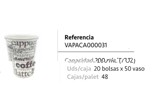 LaGamba: VASO CAFE 200C.C. DECORADO  CARTON