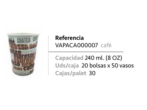 LaGamba: VASO CAFE 240C.C. DECORADO CARTON