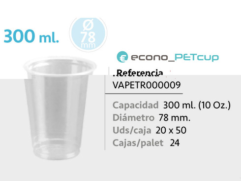 LaGamba: VASO PET 300 ML  78MM