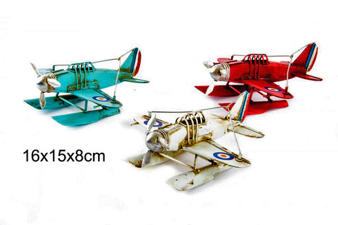 LaGamba: AVION DECORACION METAL 16X15X8