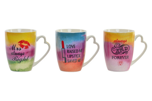 LaGamba: TAZA PORCELANA 375 ml. COLORFUL