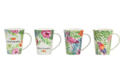 LaGamba: TAZA PORCELANA 390 ml. TROPICAL