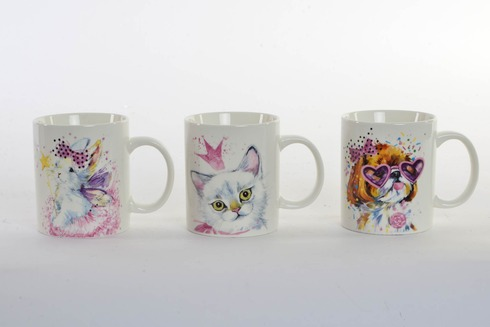 LaGamba: TAZA PORCELANA 350 ml. GATOS 12X8X9,5