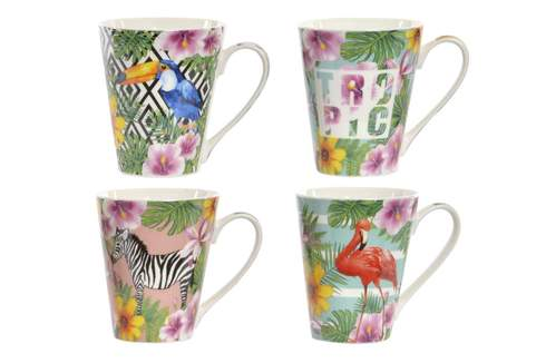 LaGamba: TAZA PORCELANA TROPICAL 380 ML 13X10X11