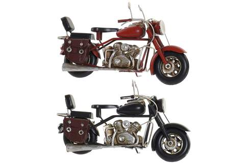 LaGamba: MOTO DECORACION METAL 19X7X10 2 COLORES