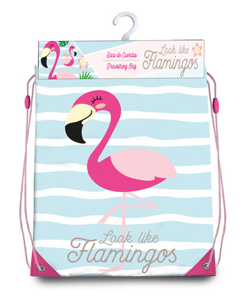 LaGamba: GYM BAG FLAMINGO 40X33 CM.
