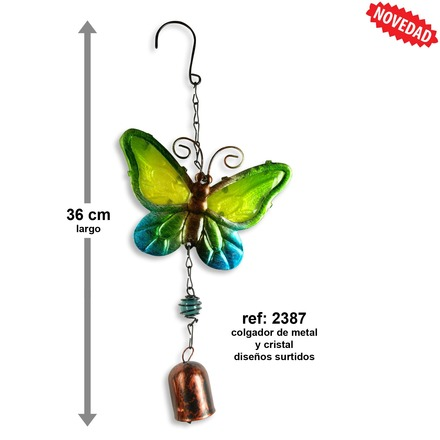 LaGamba: DECO. PARED METAL MARIPOSA 36 CM.