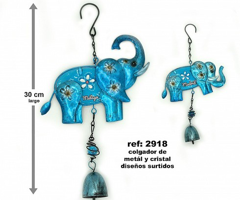 LaGamba: DECO. PARED METAL ELEFANTE 30 CM.