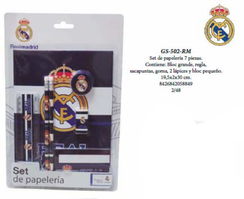 LaGamba: BLISTER REAL MADRID 7 PCS.