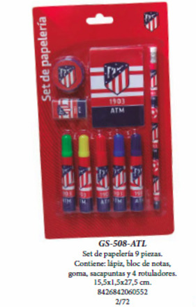 LaGamba: BLISTER ATL.MADRID 9 PCS.