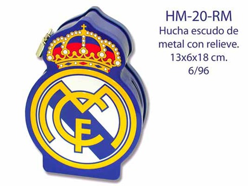 LaGamba: HUCHA REAL MADRID METAL ESCUDO