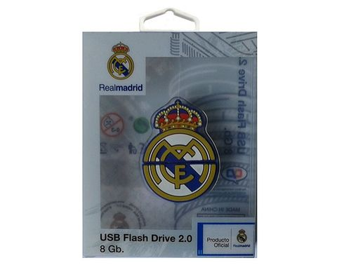 LaGamba: PENDRIVE REAL MADRID RUBBER 8gb ESCUDO