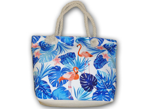 LaGamba: BOLSO CANVAS FLAMINGO 45X30X12 C/30