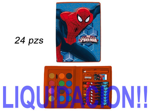 LaGamba: MALETIN SPIDERMAN 24 PZAS.