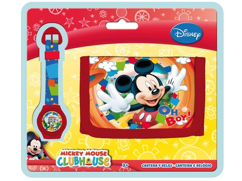 LaGamba: BLISTER RELOJ+BILLETERO MICKEY