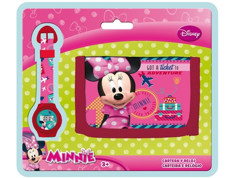 LaGamba: BLISTER RELOJ+BILLETERO MINNIE