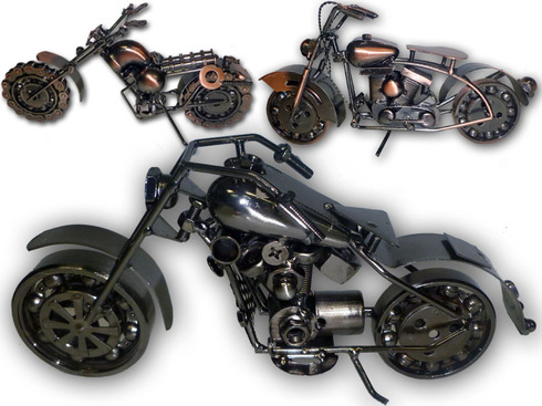 LaGamba: MOTO DECORACION METAL CUSTOM 25CM.